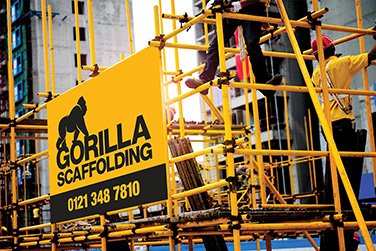 small gorilla scaffolding logo and contact number
