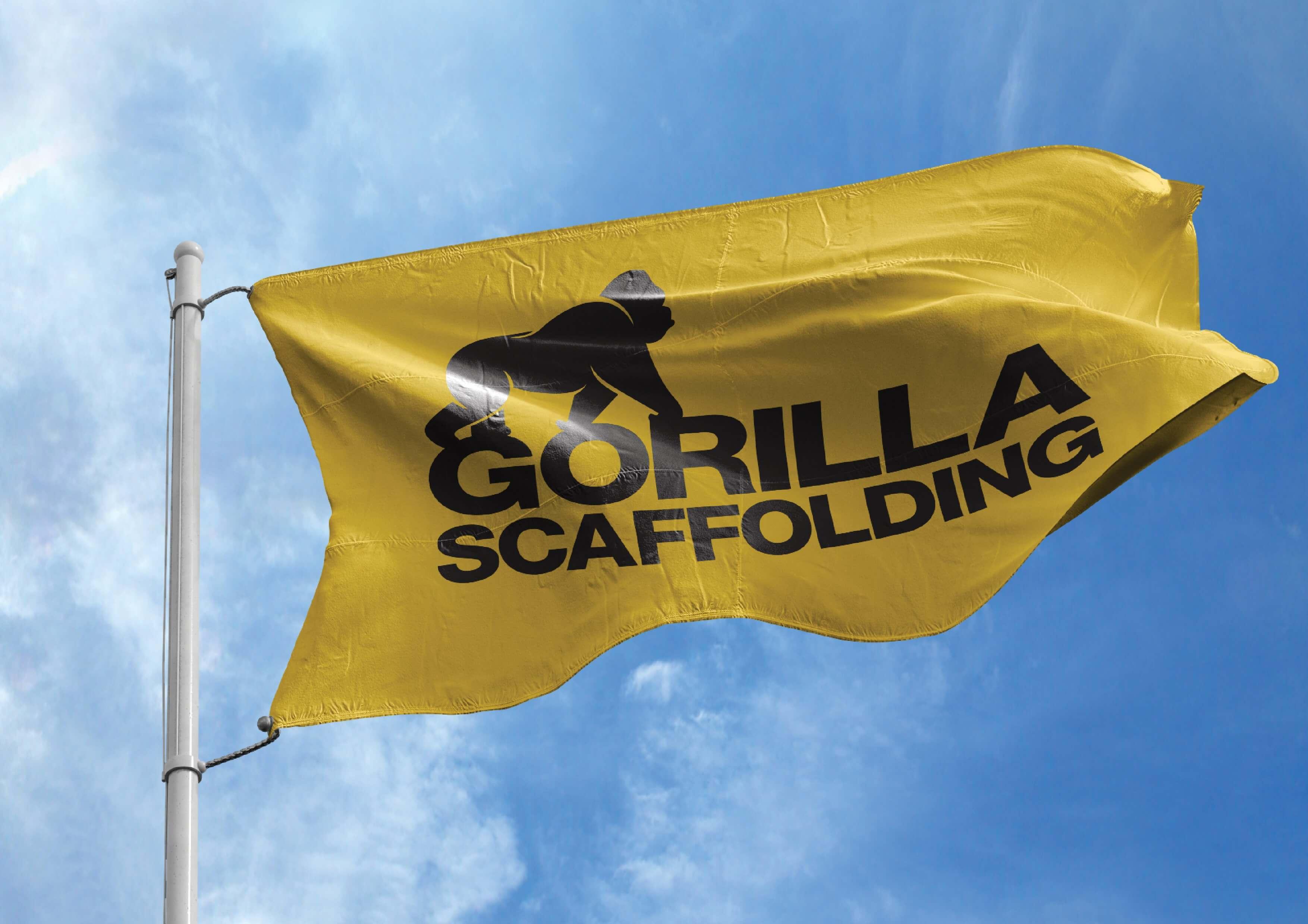 Gorilla Scaffolding Flag